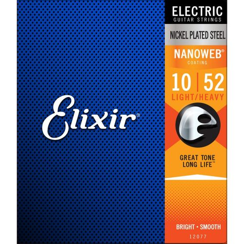 Elixir Electric Nickel Plated Steel with NANOWEB Coating 10/52