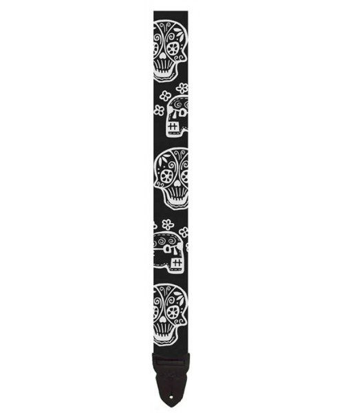 "LM Products 2"" Guitar Strap W/White Cinco Design"