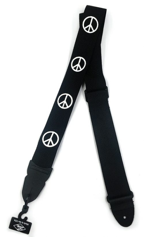 "LM Products 2"" Guitar Strap W/Peace Symbol Design"