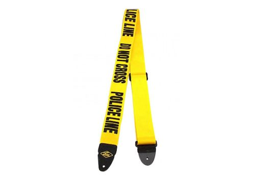 "LM Products 2"" Guitar Strap W/Police Line Do Not Cross Design"