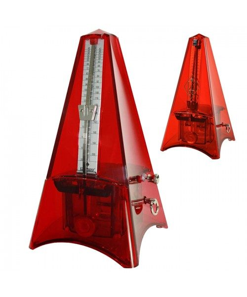 Wittner Metronome Tower Pyramid Trans Red