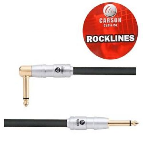 Carson Rocklines 10 ft noiseless guitar cable straight/right angle