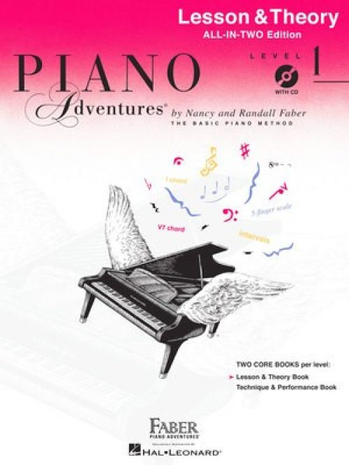 Piano Adventures All-In-Two Level 1 Lesson & Theory Book WITH CD