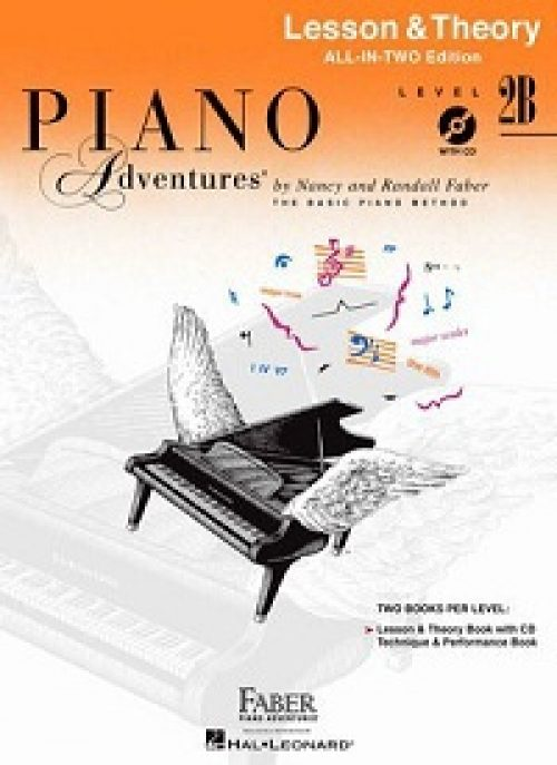 Piano Adventures All-In-Two Level 2B Lesson & Theory Book WITH CD