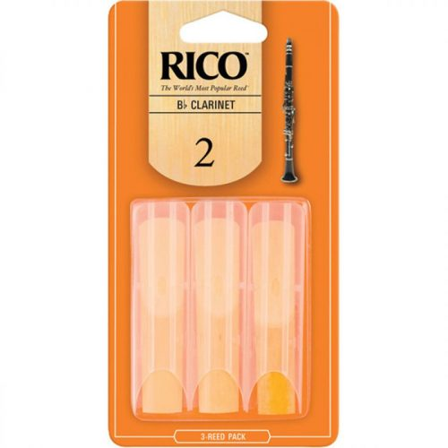 Rico by D'addario Bb Clarinet Reeds 3 Pack Reed Size 2.0
