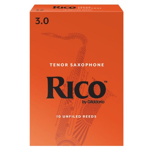 Rico By D'Addario Tenor Saxophone Reeds 3 Pack, Size 3.0