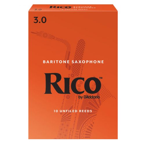 Rico by D'Addario Baritone Saxophone Reeds 3 Pack Size 3.0