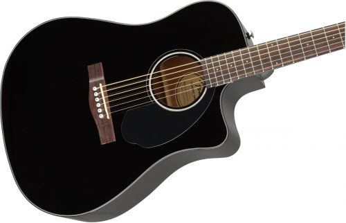 Fender CD-60SCE Dreadnought Black Cutaway