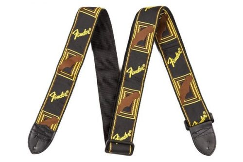 "Fender 2"" Monogrammed Strap Black/Yellow"