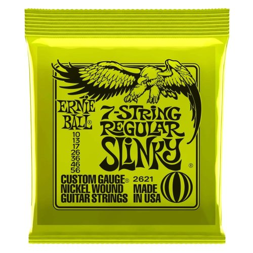 Ernie Ball Regular Slinky 7-String Electric Guitar Strings - 10-56 Gauge
