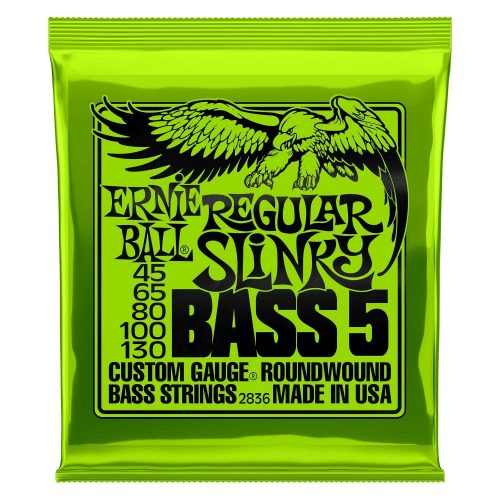 Ernie Ball Regular Slinky 5-String Bass Strings - 45-130 Gauge