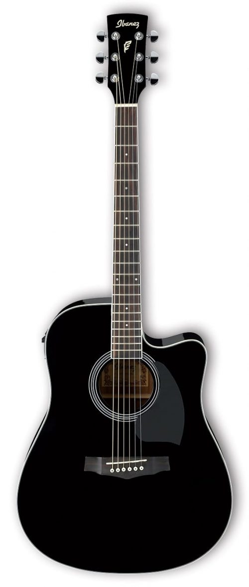 Ibanez Performance PF15ECE Mahogany Electric Acoustic Guitar Black