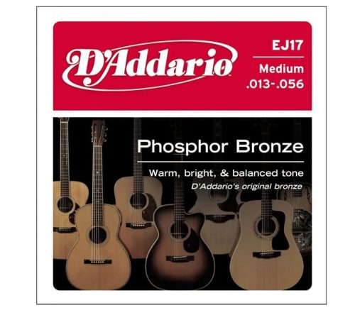 D'addario EJ17 Acoustic Guitar Set 13/56