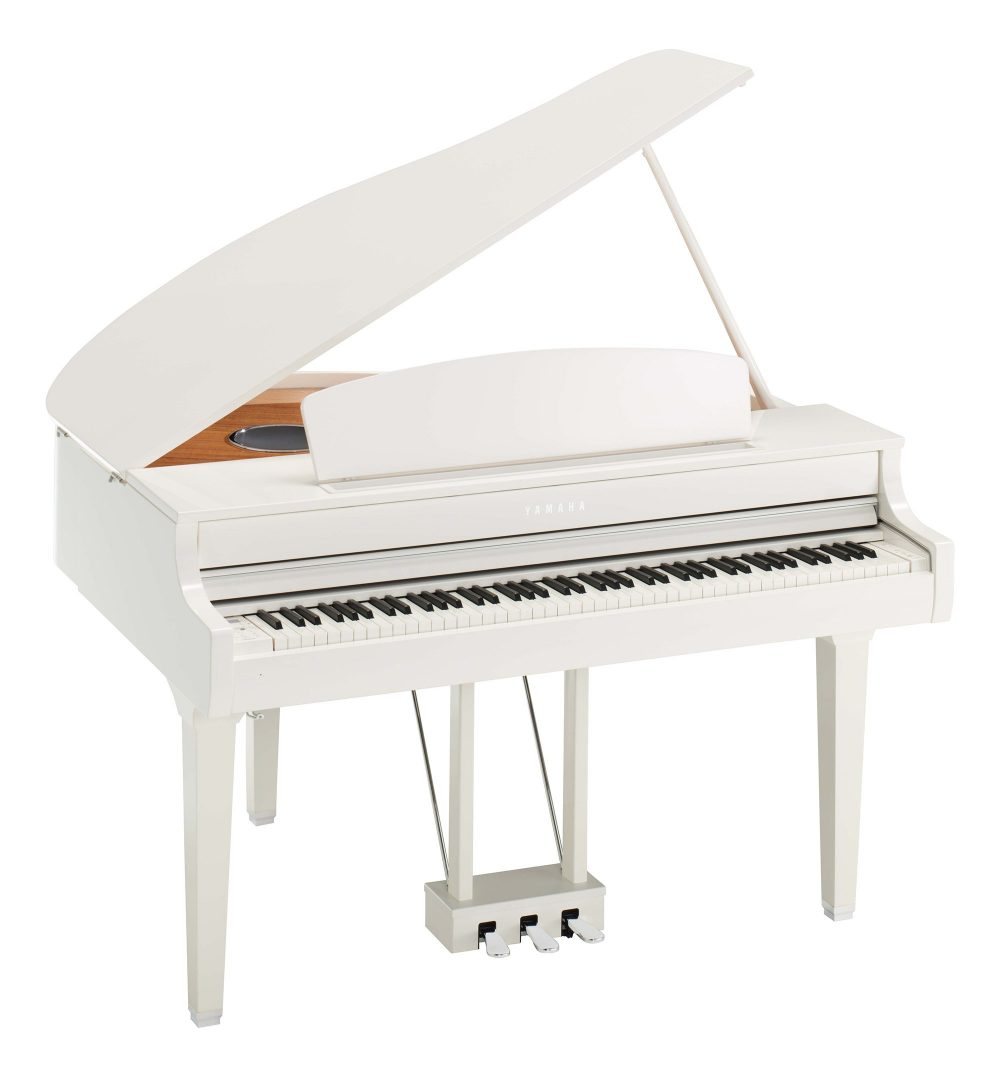 CLP695 Yamaha Digital Grand Piano w/bench - Polished White
