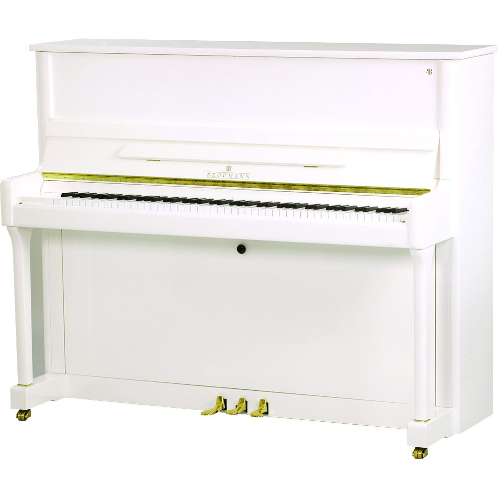 Brodmann PE-121 Upright Piano Polished White